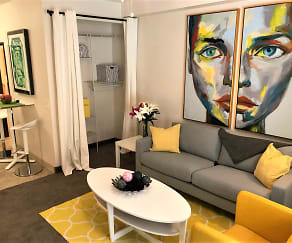 Living Room, City Center Apartments