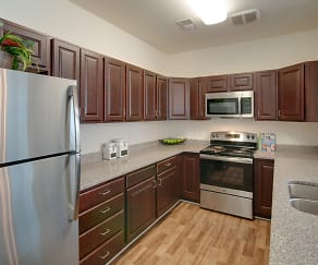 Modern Kitchen with Stainless Steel Appliances, RiverWatch Apartments