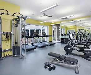 Fitness Weight Room, Bexley At Springs Farm Luxury Apartments