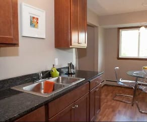 Kitchen, The Avenue Apartments