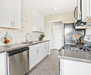 Kitchen, Sepulveda West Apartments