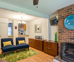 Living Room, Ivy Gates Apartments