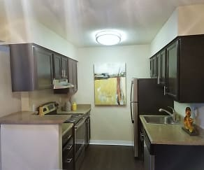 Kitchen, Cleo Apartments