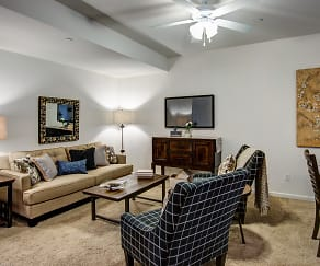 Living Room, Fox Ridge Apartments and Townhomes