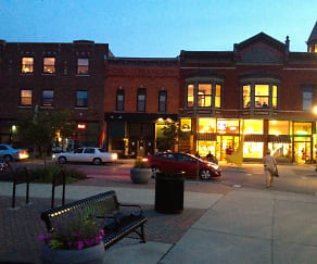 Exterior night, 124 Water Street