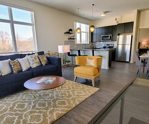 Living Room, Greenbelt Apartments