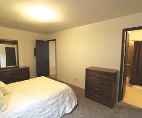 Bedroom, Stateline Apartments
