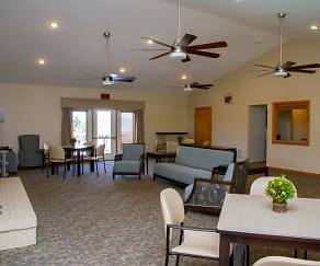 Community Building Interior, East Mountain Apartments