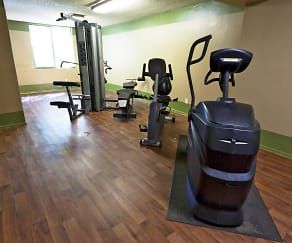 Fitness Weight Room, Elevate Apartments