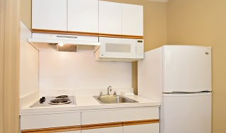 Kitchen, Furnished Studio - San Antonio - Airport