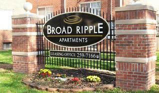 Community Signage, Broad Ripple Apartments