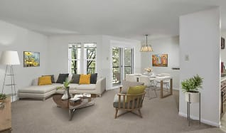 Living Room, Gateway Village Apartments