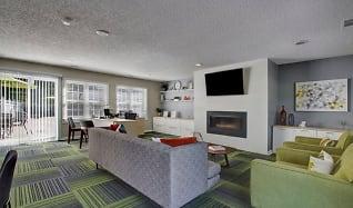 Living Room, Hampton Chase Apartments