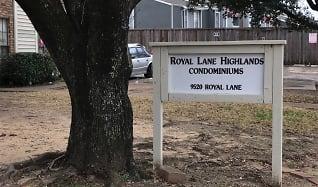 Community Signage, 9520 Royal Lane # 215