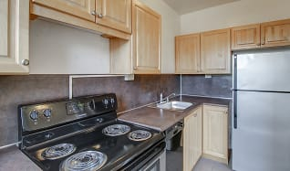 Kitchen, UDistrict Square Apartments
