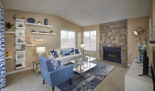 Living Room, Loretto Heights Apartments