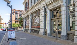 Building, Monogram on Washington