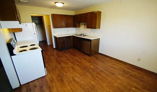Beautiful hardwood floors in the kitchen., Gentry Apartments