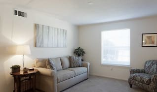 Living Room, The Wyndham Apartments