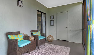 You can enjoy coming home at the end of the day to relax on your screened-in lanai., River Reach Apartments