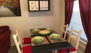 Dining Room, Riverwalk Apartments