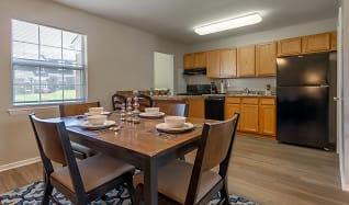 Solid Wood Cabinets & Black Appliances, Holly Station