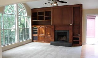 Fireplace and Built In Entertainment in Great Room, 676 Roaring Drive #238