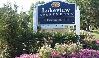 Community Signage, Lakeview Apartments of Farmington Hills