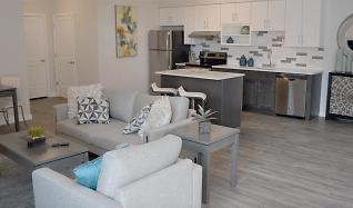 Living Room, 1 Park Row W Unit 21