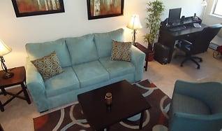 Living Room, West Jefferson Apartments