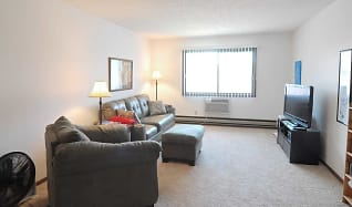 Living Room, Riverview Apartments