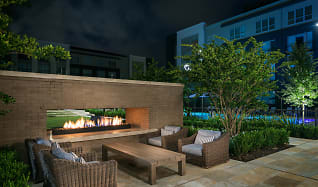 Outdoor Fireplace, Hanover Midtown Park Apartments