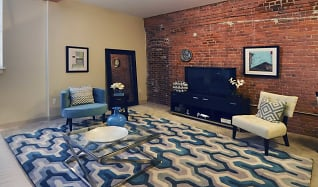Living Room, The Apartments at Cotton Mill