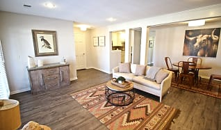 Living Room, Bourgmont Apartments