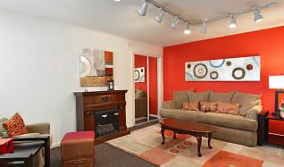 Living Room, Cedar Glen Apartments