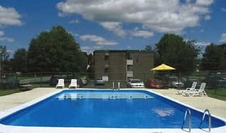 Pool, Clay Court Apartments