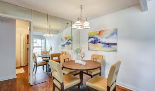 Dining Room, El Cordova Fountain Apartments