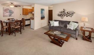 Living Room, Clinton Manor Apartments