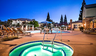 Heated swimming pool with spa, Willow Springs