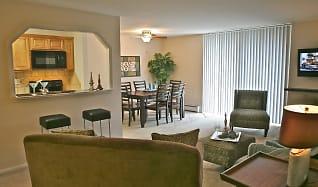 Living Room, 450 Green Apartments