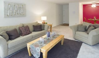 Living Room, River Place Apartment Homes