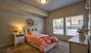 Bedroom, Riverfront Apartments