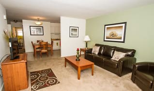 Living Room, Regency Court and Spring Gardens Apartments