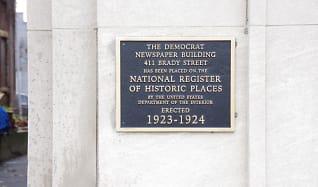Community Signage, Democrat Lofts
