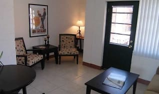 Living Room, Collins Terrace Apartments