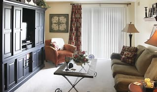 Living Room, Chateau Royale Apartments