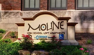 Community Signage, Moline High School Lofts