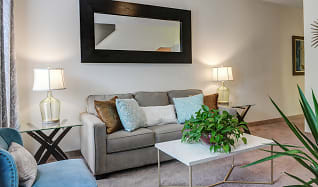 Living Room, The Garden District - Per Bed Lease