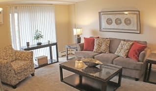 Living Room, Rockside Place Apartments