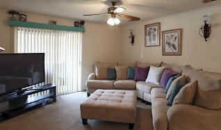Living Room, Colony Square Apartments